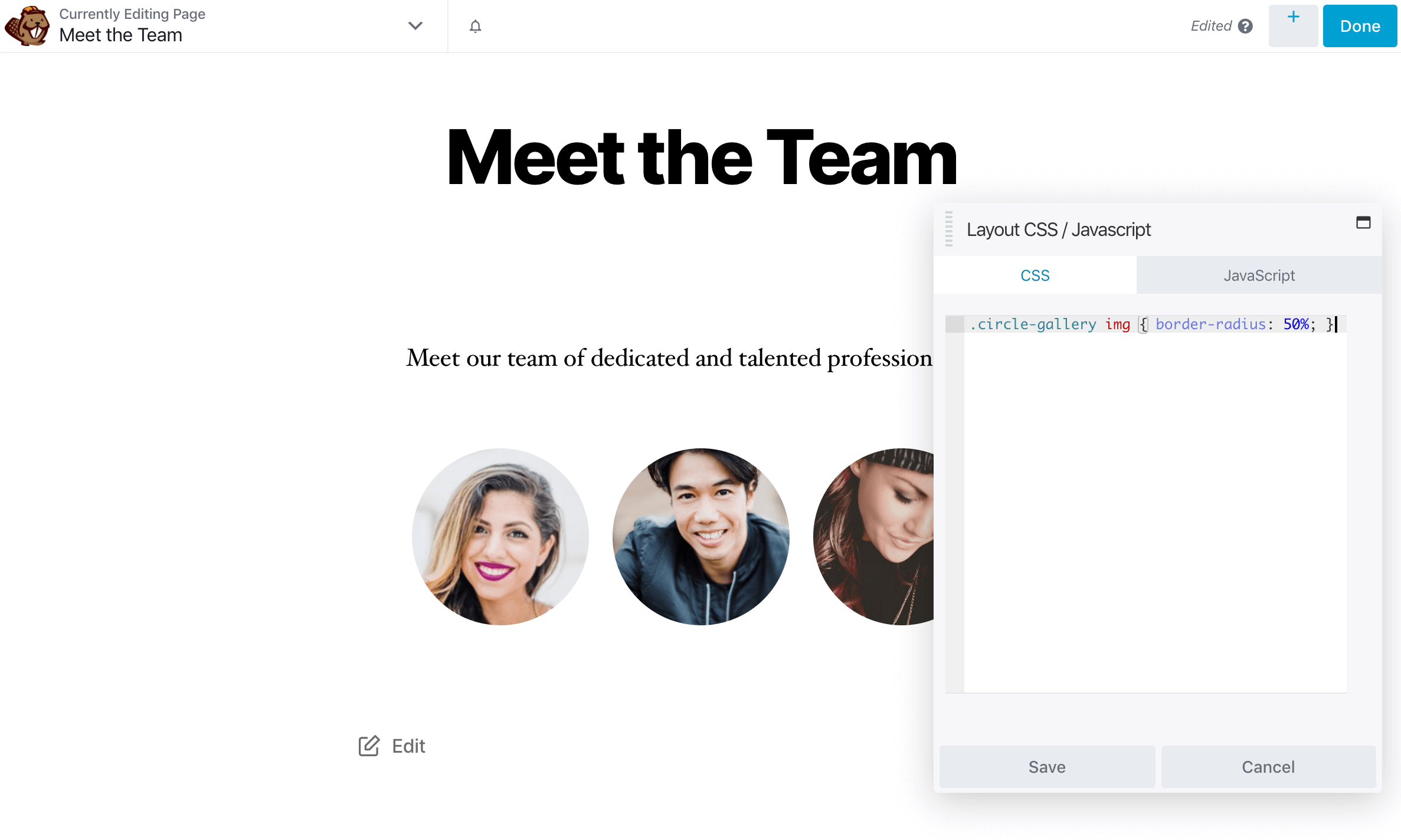 Applying styling to a custom module CSS class in Beaver Builder.