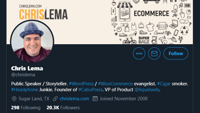 Chris Lema's Twitter profile
