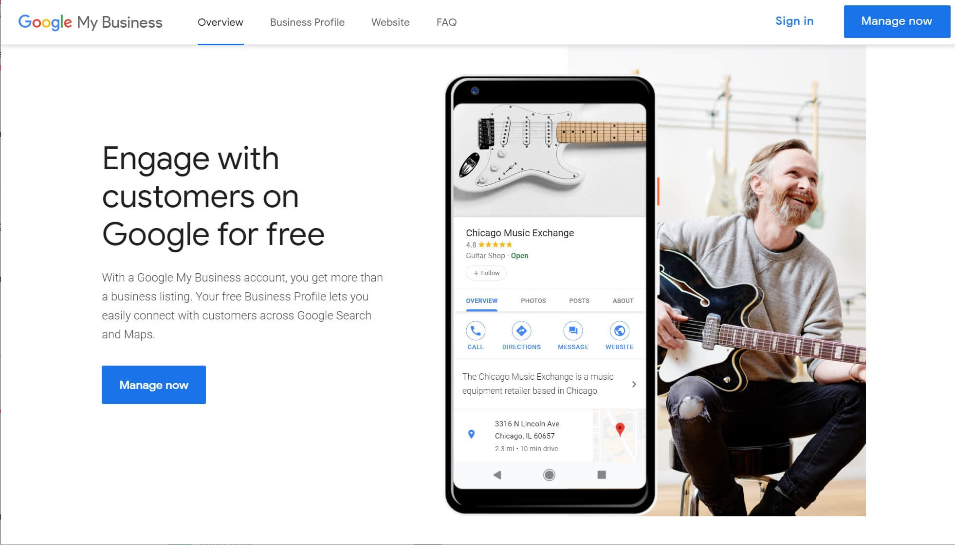 The Google My Business tool for local SEO.