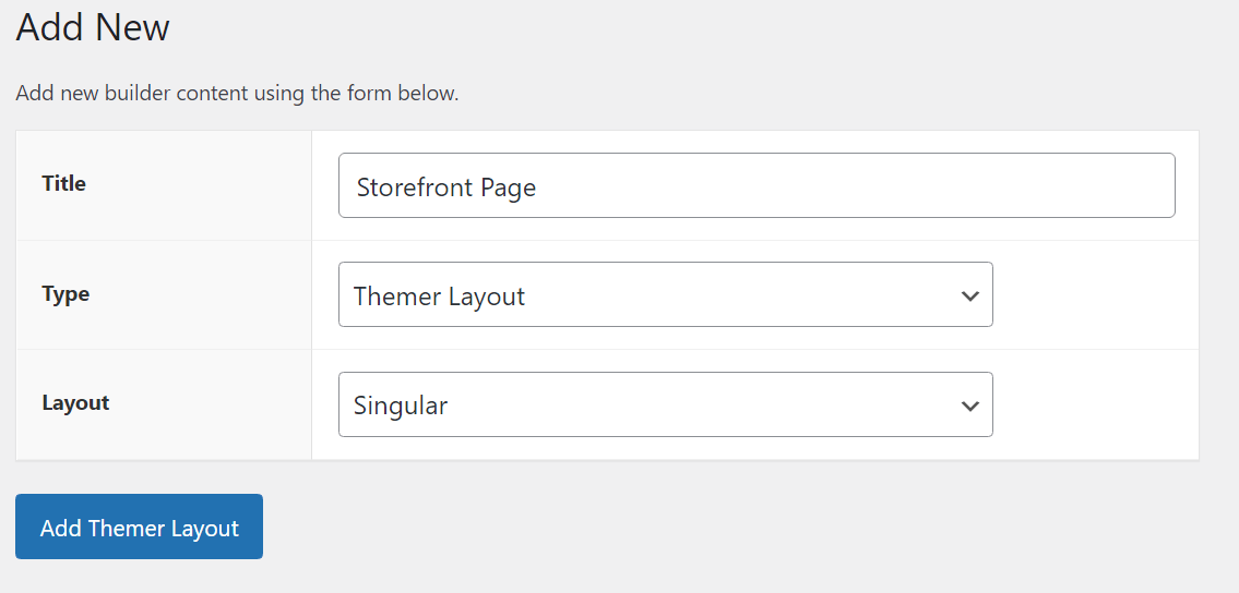 Adding a themer layout with product settings to help it act as a WooCommerce page builder.