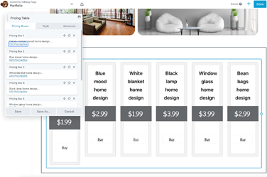 Pricing Table Module