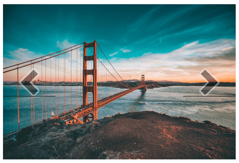 The Golden Gate Bridge on a Slideshow module.
