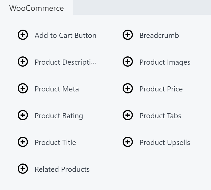 A few specialized modules found for WooCommerce in the Beaver Themer