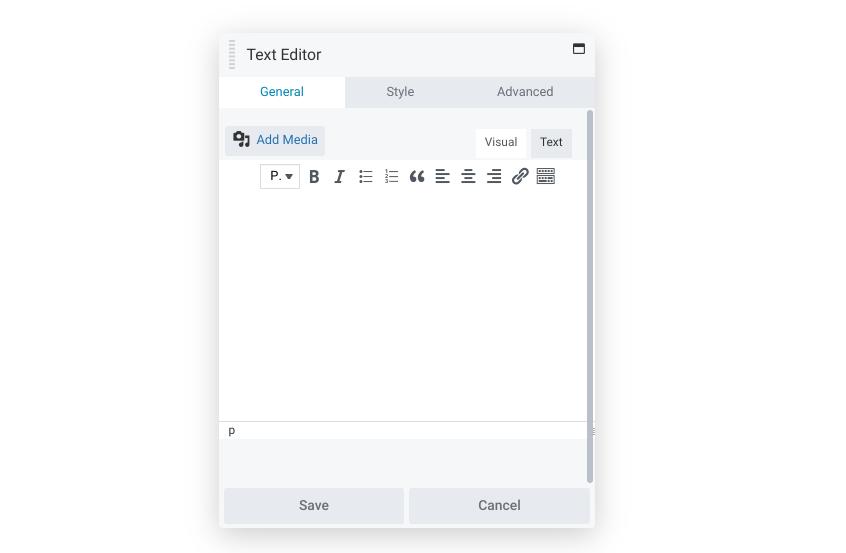 The Beaver Builder text editor module.