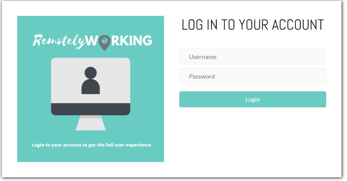 Image of finished custom WordPress login page