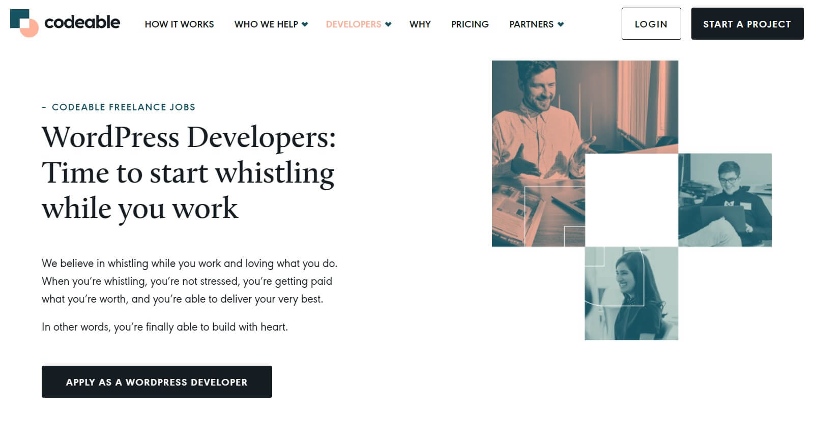 The Codeable developer page