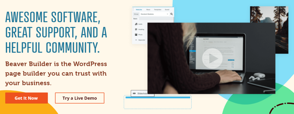Our Beaver Builder tool is one of the best tools for freelance web designers who want to design professional sites more easily.